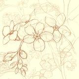 背景装饰花卉 皇族释放例证
