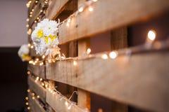 背景装饰详细资料高雅花邀请丝带婚礼 库存照片