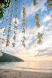 背景装饰详细资料高雅花邀请丝带婚礼 免版税库存图片