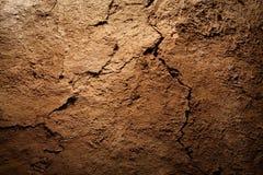 背景褐色破裂的干燥地球纹理 库存照片