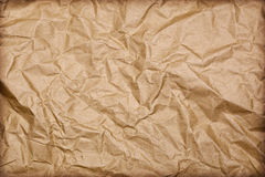 背景褐色被弄皱的纸张 免版税图库摄影