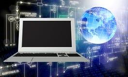 背景计算机查出的膝上型计算机现代技术白色 免版税库存图片