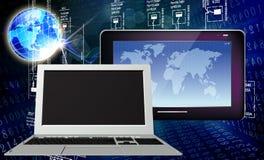 背景计算机查出的膝上型计算机现代技术白色 库存照片