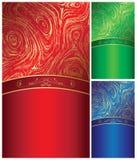 背景设计典雅的金子波动波栅 库存图片