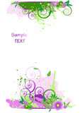 背景设计要素花卉grunge vect 免版税图库摄影