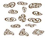 背景设计要素例证向量白色 browne 也corel凹道例证向量 皇族释放例证