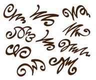 背景设计要素空白四的雪花 browne 也corel凹道例证向量 库存例证