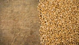 背景谷物麦子木头 免版税库存照片