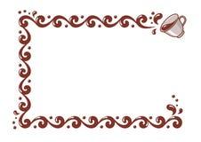 背景豆咖啡框架白色 免版税库存照片