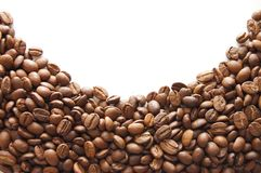 背景豆咖啡白色 库存图片