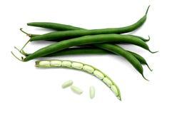 背景豆绿色查出的白色 图库摄影