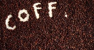 背景豆美好的咖啡烹调相关纹理 豆咖啡概念重点爱纸张敲响形状的葡萄酒 影视素材