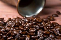 背景豆美好的咖啡烹调相关纹理 免版税图库摄影