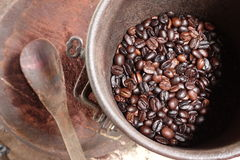 背景豆美好的咖啡烹调相关纹理 库存图片