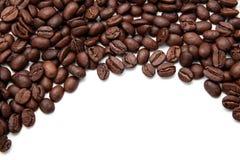 背景豆被弄脏的咖啡渐近有选择性的重点 免版税库存图片