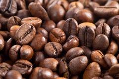 背景豆结束咖啡纹理 免版税库存图片