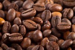 背景豆结束咖啡纹理 图库摄影