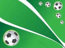 背景足球 免版税图库摄影