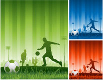 背景足球 免版税库存图片