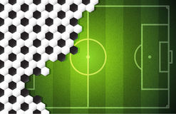 背景足球 免版税库存照片