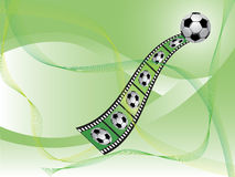 背景足球 向量例证