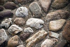 背景路面石头纹理 库存照片