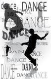 背景跳舞人 免版税图库摄影