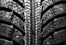 背景轮胎冬天 免版税库存照片