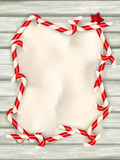 背景边界把空白圣诞节礼品金黄查出的丝带装箱 10 eps 免版税库存照片