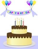 背景迅速增加愉快的生日蛋糕 皇族释放例证