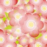 背景进展浅粉红色的花 皇族释放例证