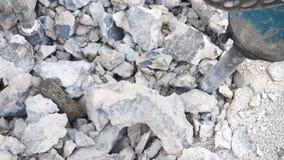 背景迷离地面钻井的工作者建筑 免版税库存照片