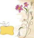 背景逗人喜爱花卉 皇族释放例证