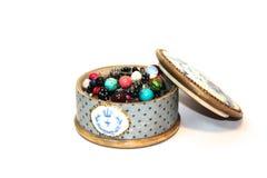 背景配件箱珠宝空白木 库存图片