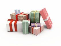 背景配件箱礼品查出的白色 免版税图库摄影