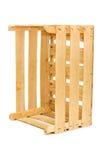 背景配件箱空白木 库存图片