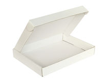 背景配件箱纸盒查出的白色 免版税图库摄影