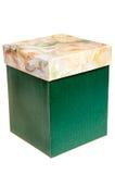 背景配件箱绿色查出的白色 免版税库存图片