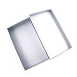背景配件箱开放白色 库存照片