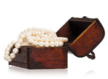 背景配件箱查出的珠宝白色 图库摄影