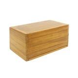 背景配件箱查出的空白木头 库存照片