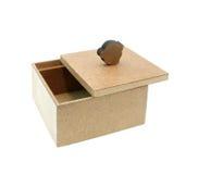 背景配件箱查出的空白木头 图库摄影