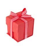 背景配件箱礼品红色白色 库存照片