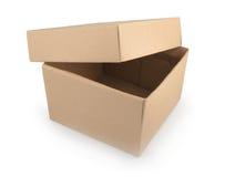 背景配件箱纸板查出的白色 库存照片