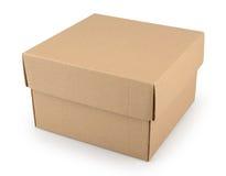 背景配件箱纸板查出的白色 图库摄影