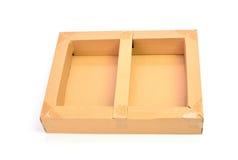背景配件箱纸盒查出的白色 免版税库存照片