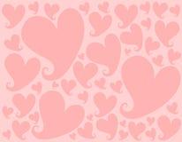 背景重点轻的模式粉红色华伦泰 向量例证