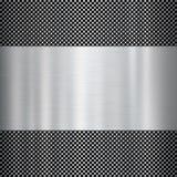 背景金属发光的纹理 库存图片
