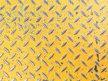 背景金属片在黄色颜色 免版税图库摄影