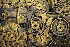 背景金属葡萄酒机械 免版税图库摄影